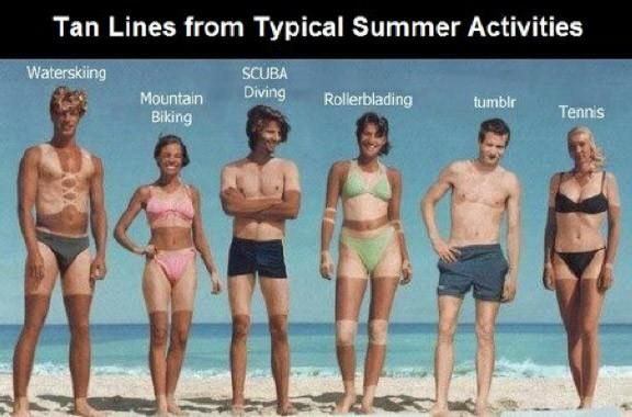 Have you had any terrible tan lines?