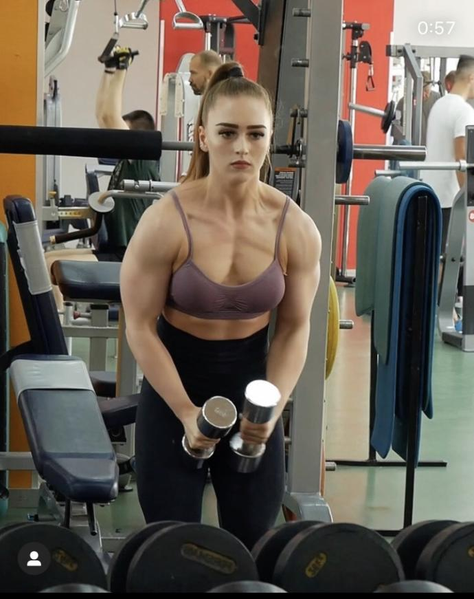 How much do weight do you think this Hulk of a woman can deadlift?