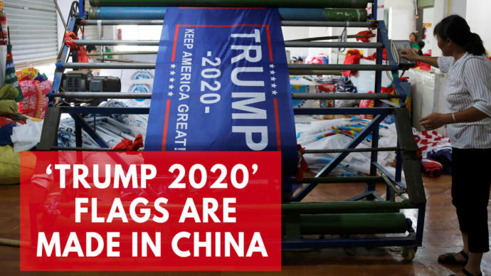Why are all of Trumps hats and merchandise made in China, not in America?