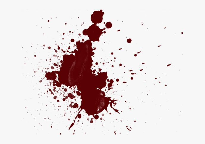 Not real blood, for illustration only
