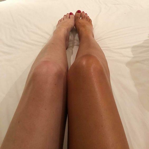 Not really HER legs, but they do look very SIMILAR to this, as shes also a mixed woman with super smooth legs.