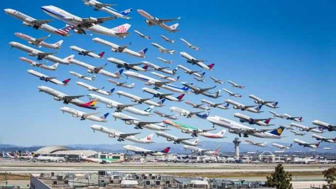 WakeTurbulence-LAXdepartures by MikeKelley (yes, its layered in Photoshop, probably.)