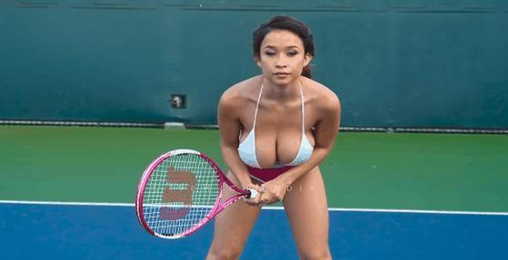 CREDITS: Big Boobs Tennis Girl Elizabeth Anne