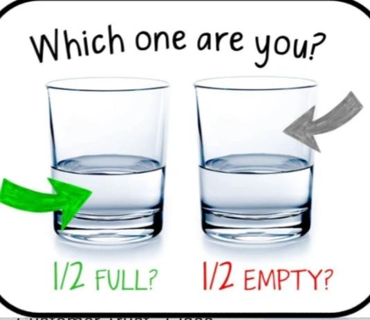 Are You: The Glass Is Half Empty Or The Glass Is Half Full Type?