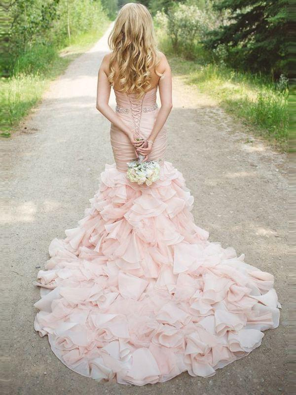 Since a white wedding dress represents the purity of virginity... should an alternate color be worn if you lose your V-Card prior to the big day?