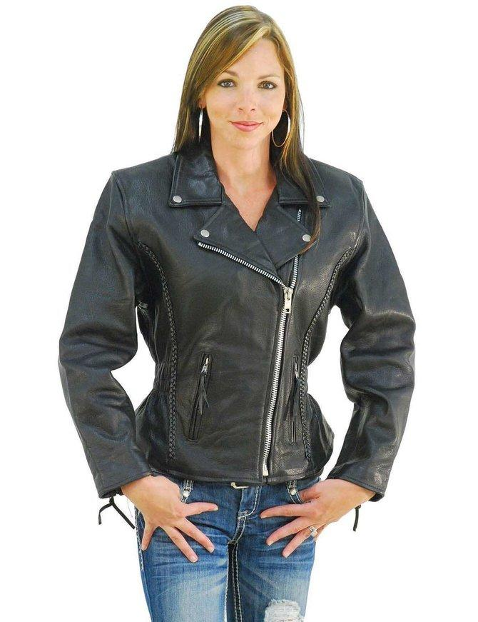 How can I make a motorcycle jacket fasionable?