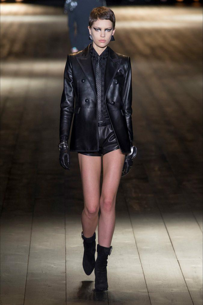 Which modern leather outfit looks the most interesting?