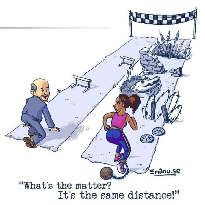 Do you agree with this drawing of white privilege?