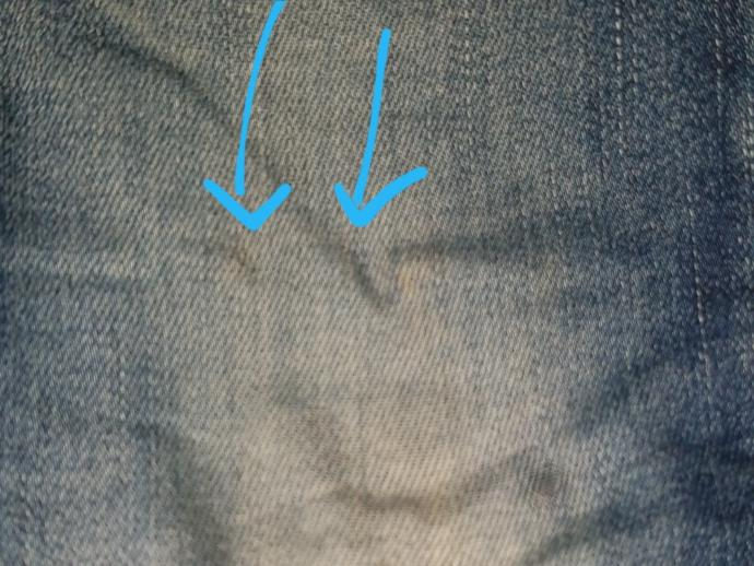 What do dimples in jeans mean?