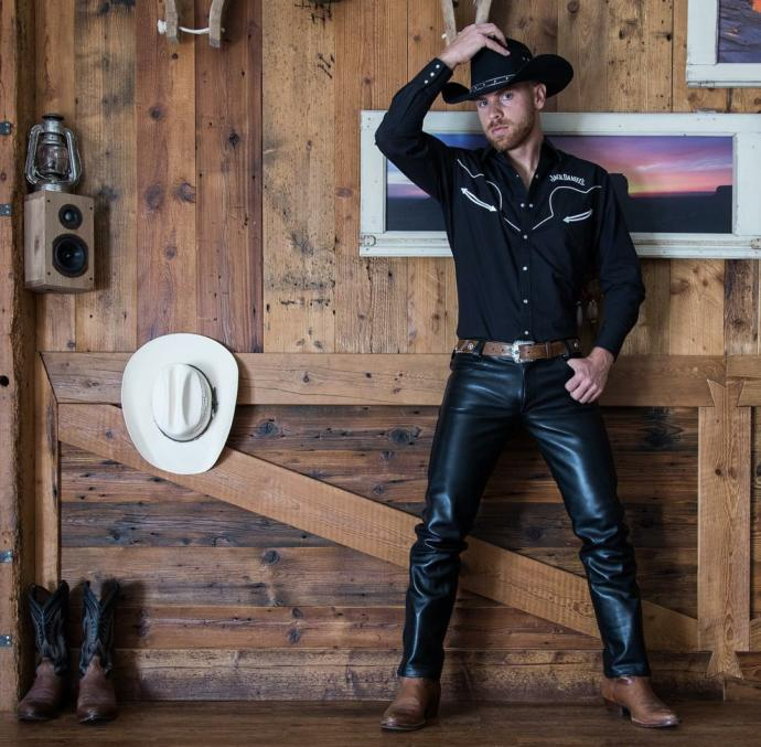 Do you find the cowboy boots with leather pants look great, okay or terrible?
