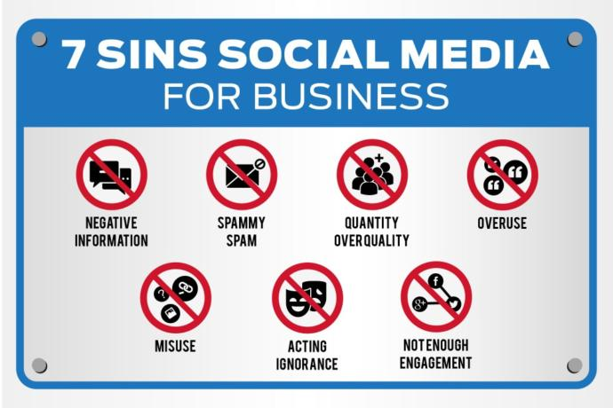 Have you ever heard of the seven sins of social media?