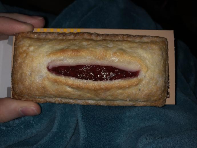Is it okay to eat pie on the toilet?
