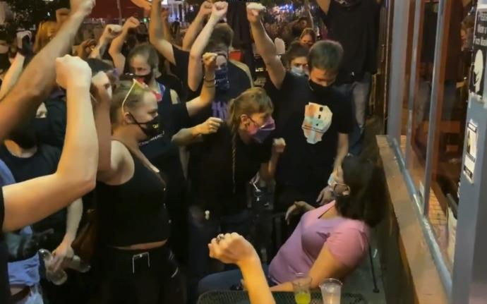 BLM harass diners; demand they show solidarity for their cause by raising their fists for black power. Thoughts?