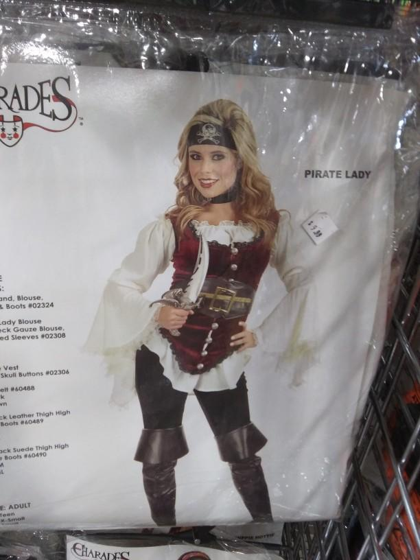 Which female costume from charades looks the most interesting?