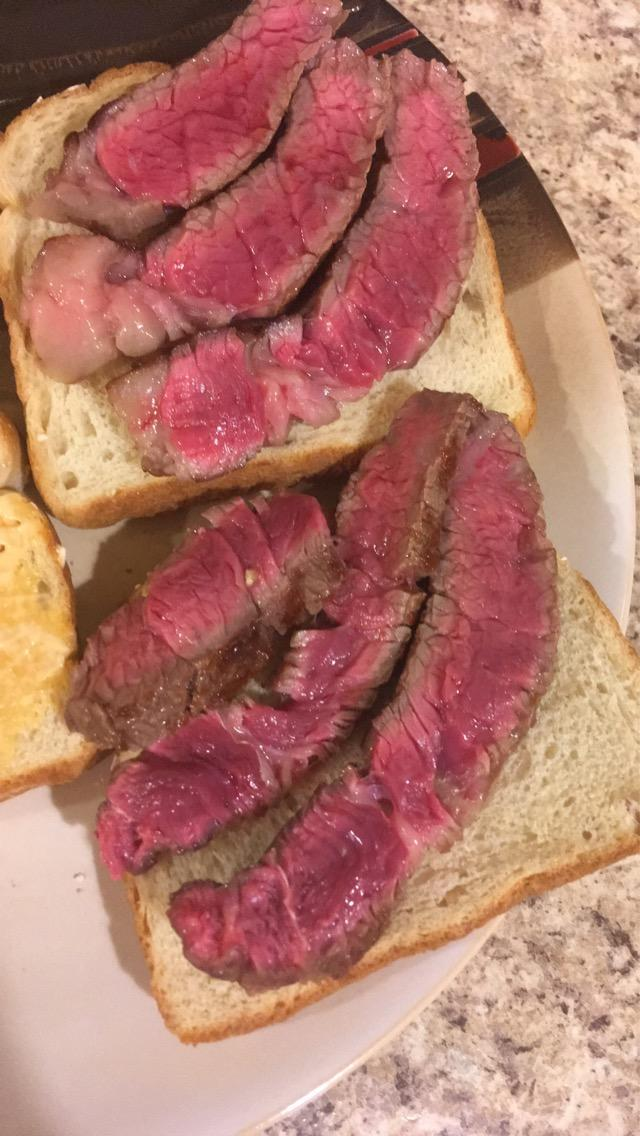 What do you think about this rib eye sandwich?