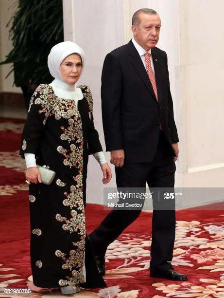 Erdogan and his wife Emine