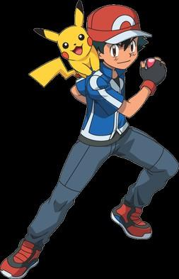 What if Ash Ketchum became in the Pokemon Master in each region?