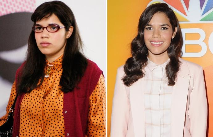 """What is it about """"ugly"""" people that """"attractive"""" people don't like? Here's an image of Ugly Betty and America Ferrera who played as Ugly Betty?"""