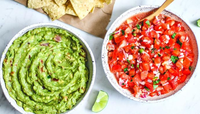 Which do you like dipping your chips in more: cheese, guac, or salsa?