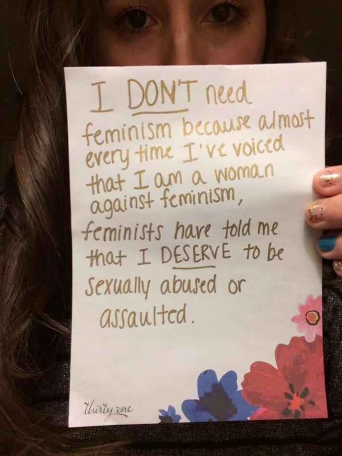 Why would a female family friend who is a feminist, say this to my wife?