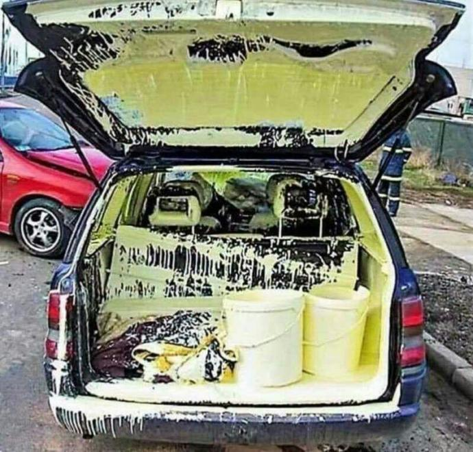 Whats the best way to clean paint off car seats?