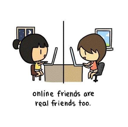 Are online friends and relationship as important as real ones?