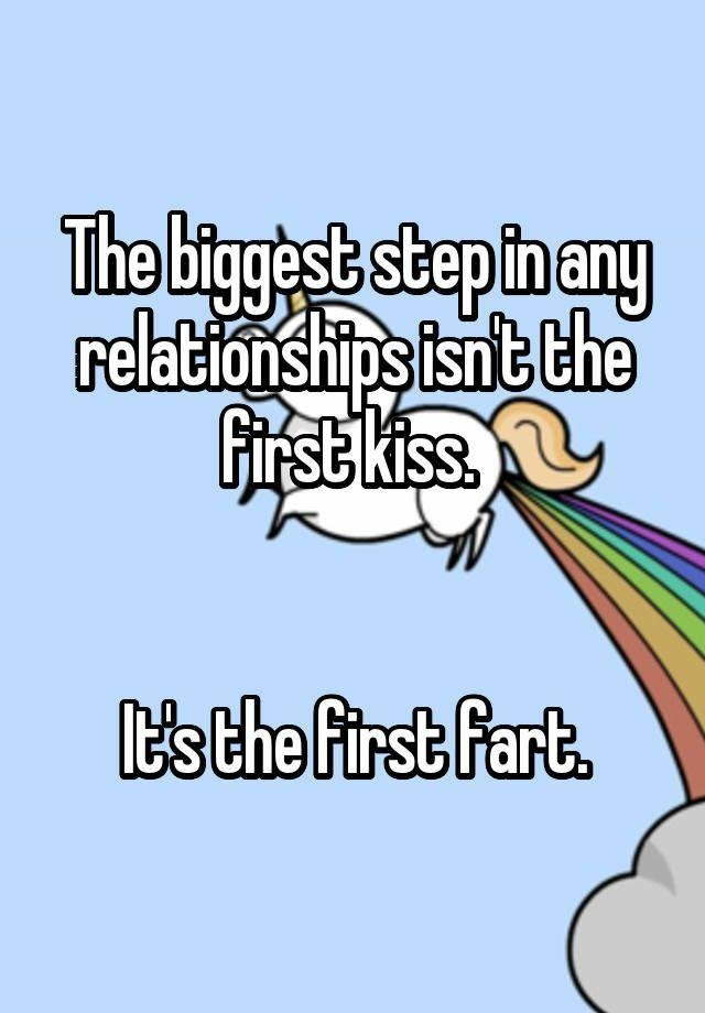 Is sharing the first fart with each other bigger than sharing your first kiss with each other in a relationship?