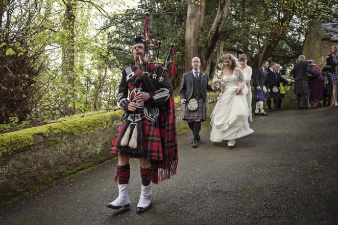 Does your family use bagpipes at weddings?