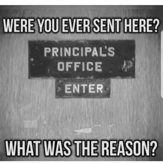 Were you ever sent here?