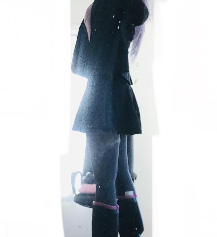 "Pairing ""medium grey jacket black skirt grey nylons black shoes pink shirt"" pair OK or NO?"