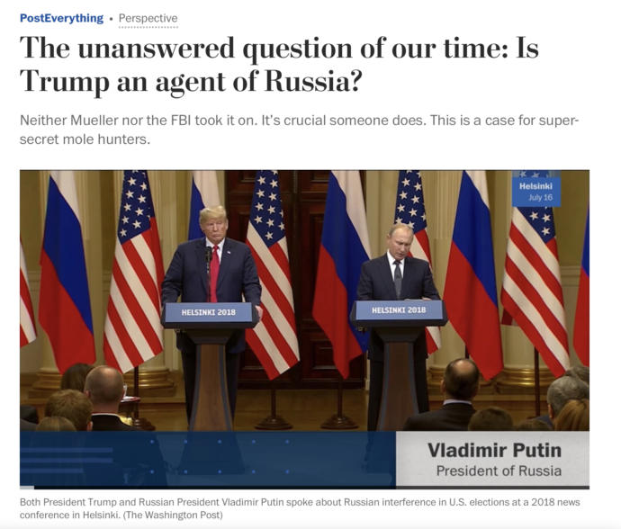 Is Trump a Russian Agent?