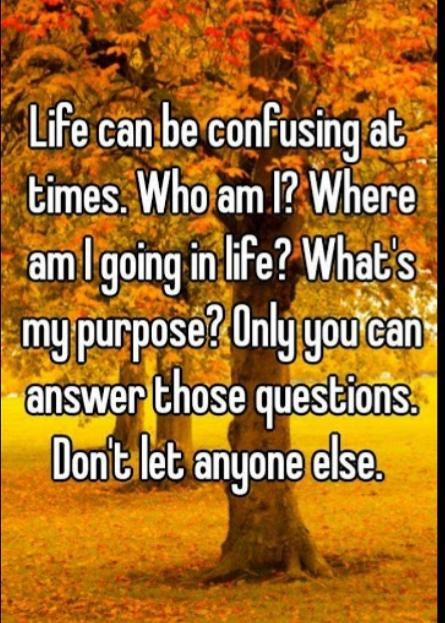 Whats Confuses You More: Life Or People?