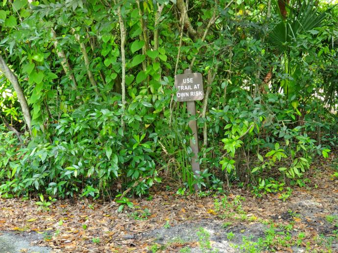 Would you walk a trail if you see this warning sign?