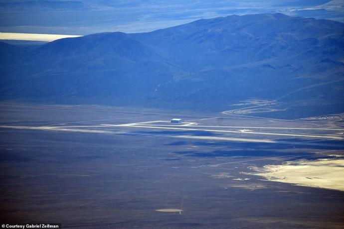 Another massive hangar sits isolated on the far southern edge of Area 51. It has been there for several years