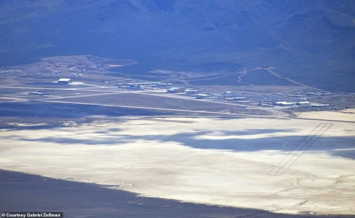 Groom Lake and Area 51 (still about 40 miles away)