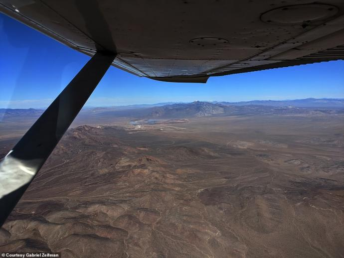 partially flooded groom lake.