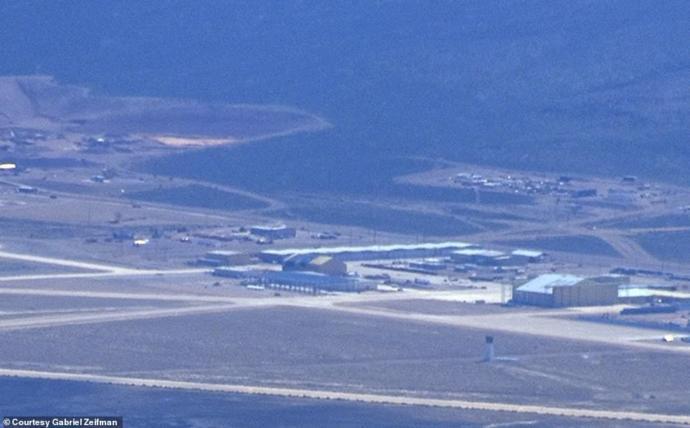 Area 51 new hangar (still about 40 miles away)