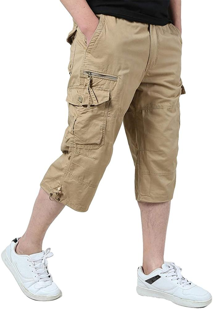 Would you rather guys wear shorts VERY above the knee, or VERY below the knee?