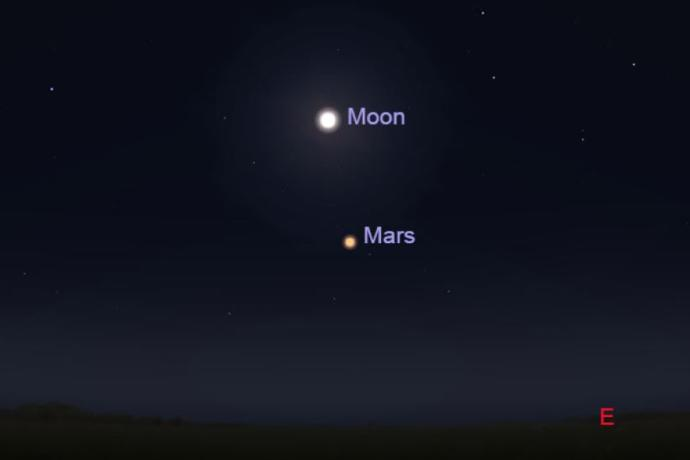 Mars and the moon will come together in the sky tonight (October 2nd) at 11:45 EST. Will you be Marsgazing tonight?