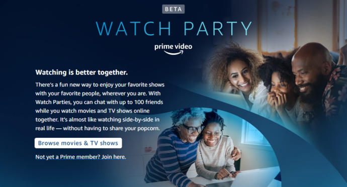 Have you ever heard of a watch party on either Amazon Prime, Hulu or Facebook?
