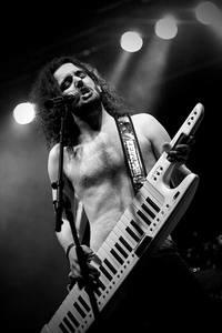 Christopher Bowes of Alestorm playing his Roland AX-7