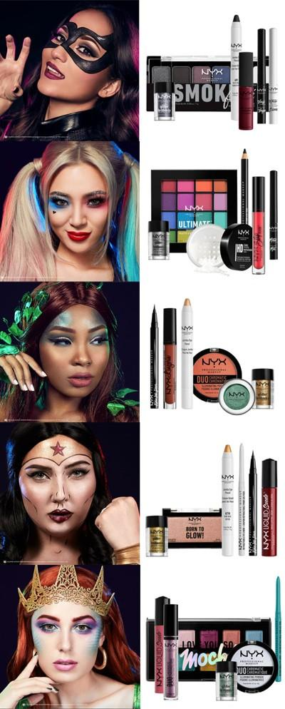 Which NYX Halloween inspired makeup face is the most interesting?