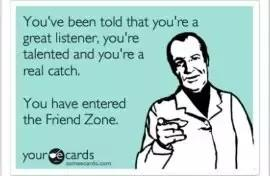 What prevents someone from getting past the friend zone?