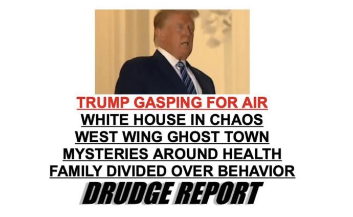 Even the drudge report called him out on it.