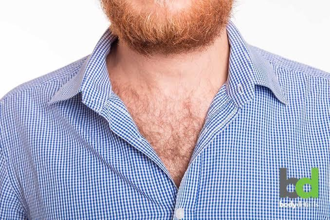 Girls, What if you could see a guys chest hair at top?
