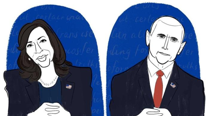 What do feminists have to say about the debate of Mike Pence vs. Kamala Harris?
