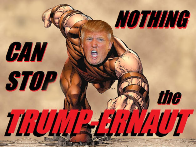 Trump. After defeating Covid, hillary, China, Biden, Obama, Mexico, ISIS, Antifa, Muller, CNN, Pohochas, BLM can the Trump Juggernaut be stopped?