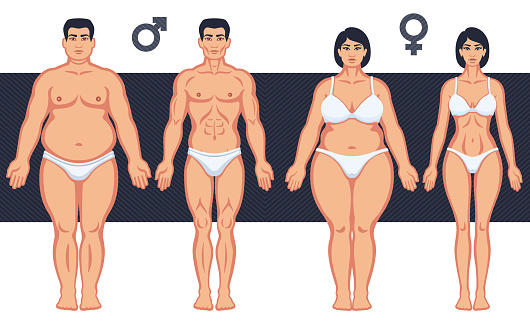 Is it more acceptable for men or women to be overweight?