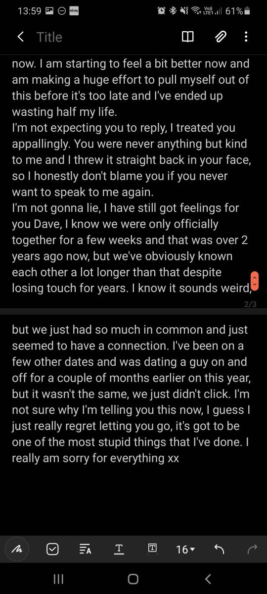 Ex messaged after 2 years then nothing?