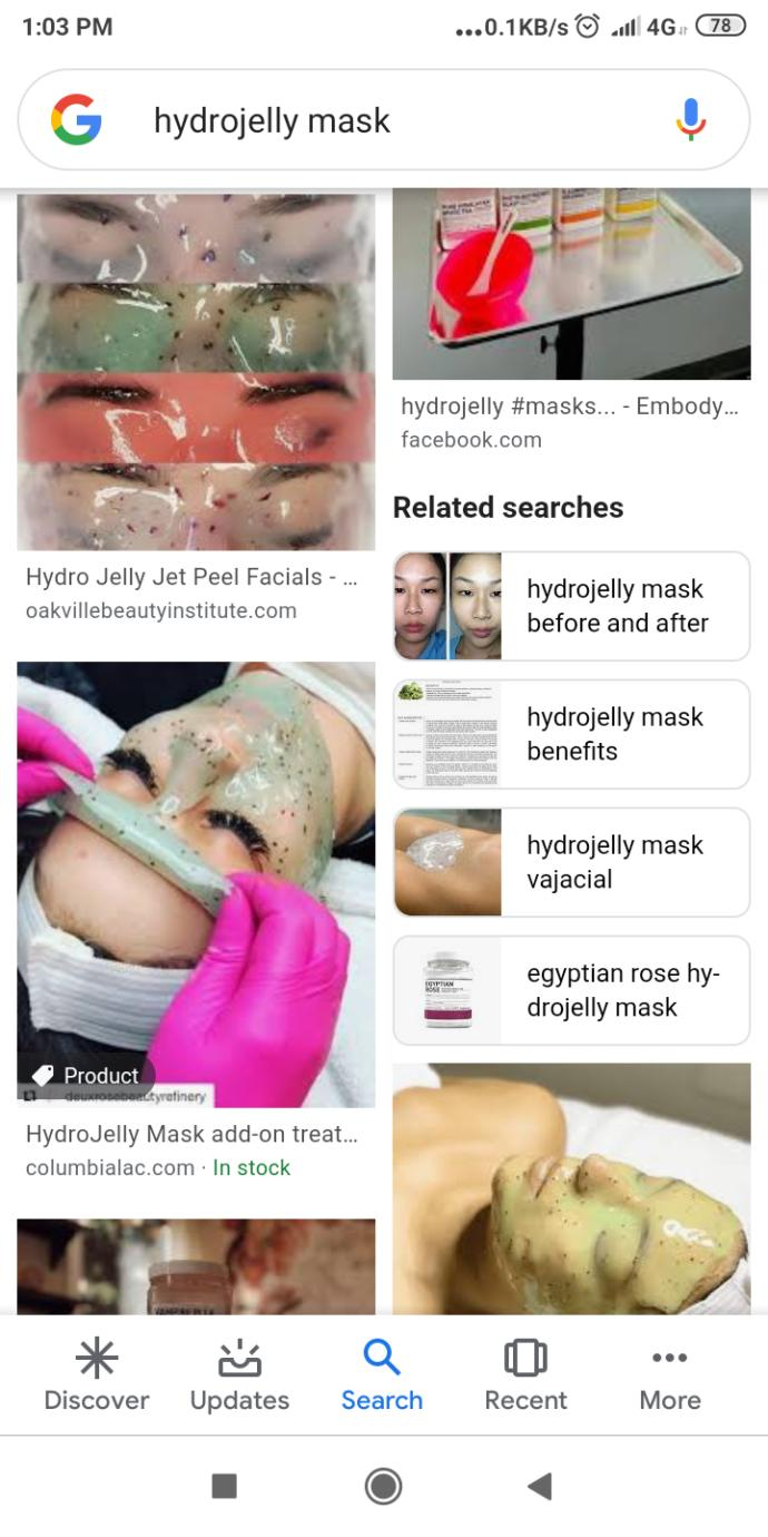 Have you ever try to use hydrojelly mask?